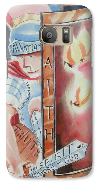 Galaxy Case featuring the painting The Fiery Darts Of The Evil One by Kip DeVore