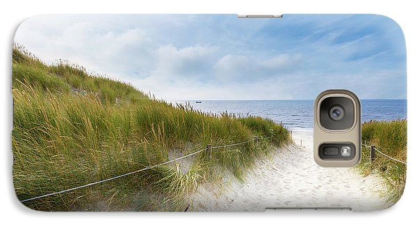 Galaxy Case featuring the photograph The First Look At The Sea by Hannes Cmarits