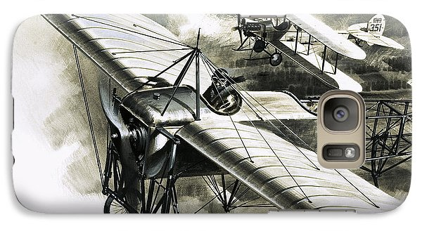 The First Reconnaissance Flight By The Rfc Galaxy S7 Case by Wilf Hardy