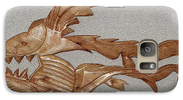 Galaxy Case featuring the mixed media The Fish Skeleton by Robert Margetts