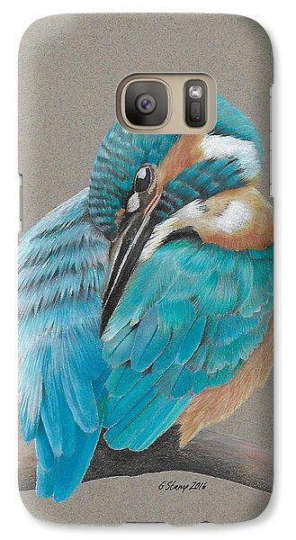 Galaxy Case featuring the drawing The Fisherking by Gary Stamp