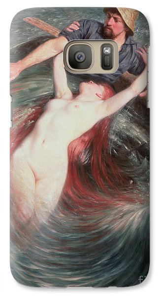 Extinct And Mythical Galaxy S7 Case - The Fisherman And The Siren by Knut Ekvall