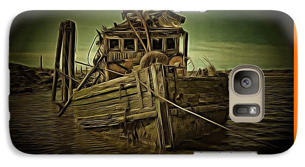 Galaxy Case featuring the photograph Mary D. Hume Shipwreak by Thom Zehrfeld