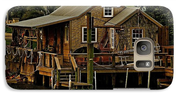 Galaxy Case featuring the photograph The Fishing Shack by John Harding