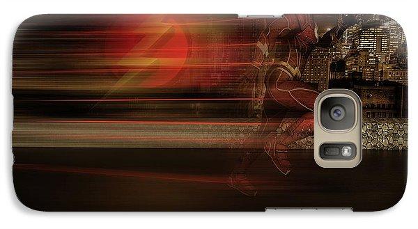 Galaxy Case featuring the digital art The Flash  by Louis Ferreira