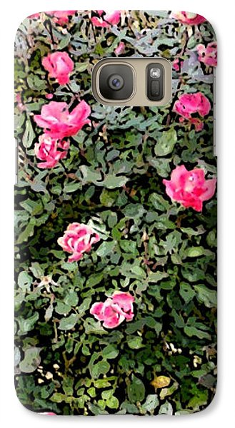 Galaxy Case featuring the photograph Rose Bush by Skyler Tipton
