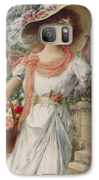 Garden Galaxy S7 Case - The Flower Girl by Emile Vernon