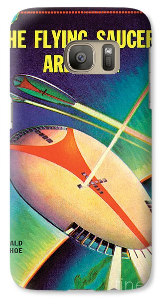 Galaxy Case featuring the painting The Flying Saucers Are Real by Frank Tinsley