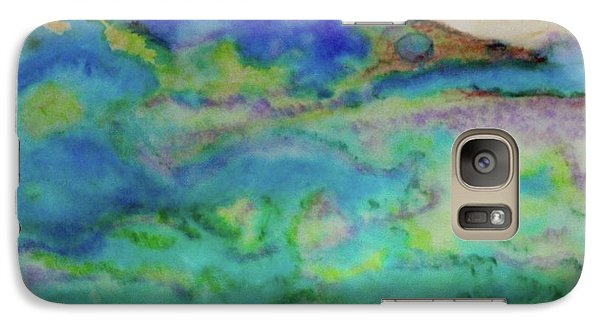 Galaxy Case featuring the painting The Fog Rolls In by Kim Nelson