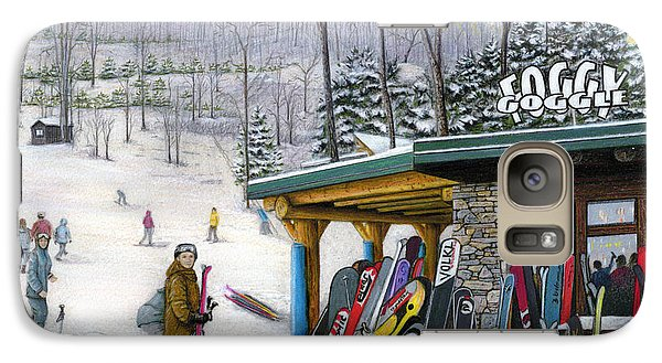 Galaxy Case featuring the painting The Foggy Goggle At Seven Springs by Albert Puskaric
