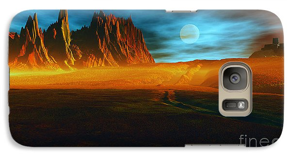 Galaxy Case featuring the mixed media The Fortress In The Wilderness by Tyler Robbins