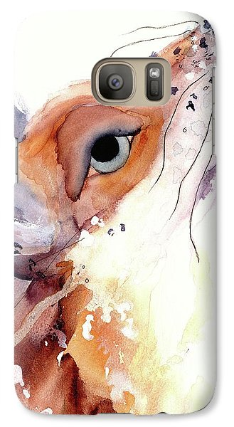 Galaxy Case featuring the painting The Fox by Dawn Derman