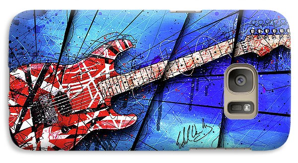 The Frankenstrat On Blue I Galaxy S7 Case