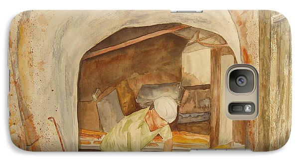 Galaxy Case featuring the painting The French Baker by Vicki  Housel