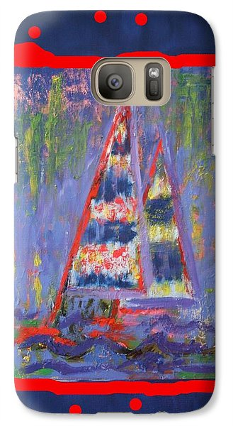 Galaxy Case featuring the painting The Fun Of Sailing by Karin Eisermann