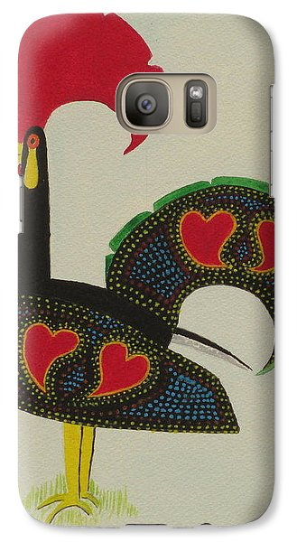 Galaxy Case featuring the painting The Galo De Barcelos by Hilda and Jose Garrancho
