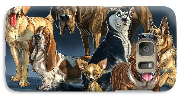 Galaxy Case featuring the digital art The Gang 2 by Aaron Blaise