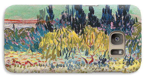 Garden Galaxy S7 Case - The Garden At Arles  by Vincent Van Gogh