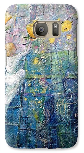 Galaxy Case featuring the painting The Garden Party by Eleatta Diver