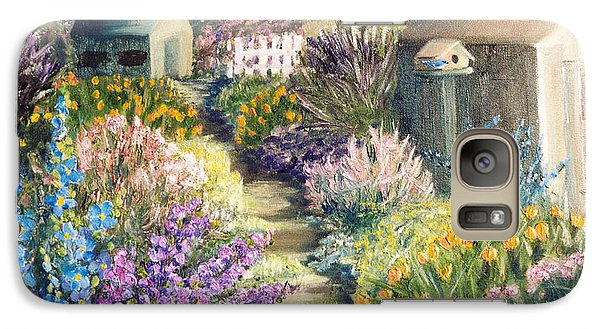 Galaxy Case featuring the painting The Garden Path by Renate Nadi Wesley
