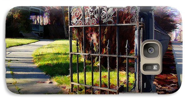 Galaxy Case featuring the photograph The Gate by Betsy Zimmerli