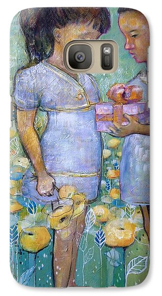 Galaxy Case featuring the painting The Gift by Eleatta Diver