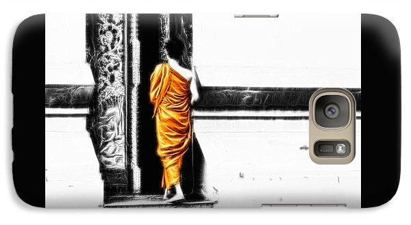 Galaxy Case featuring the photograph The Gilded Monk by Cameron Wood