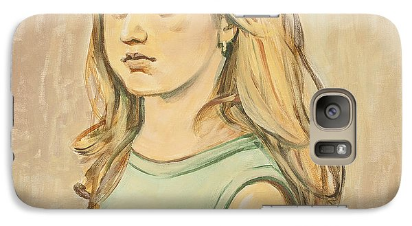 Galaxy Case featuring the painting The Girl With The Golden Hair by Olimpia - Hinamatsuri Barbu