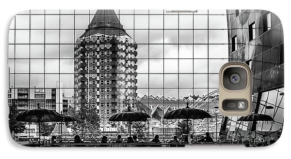 Galaxy Case featuring the photograph The Glass Windows Of The Market Hall In Rotterdam by RicardMN Photography