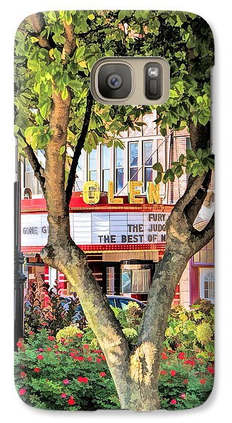 Galaxy S7 Case featuring the painting The Glen Movie Theater by Christopher Arndt