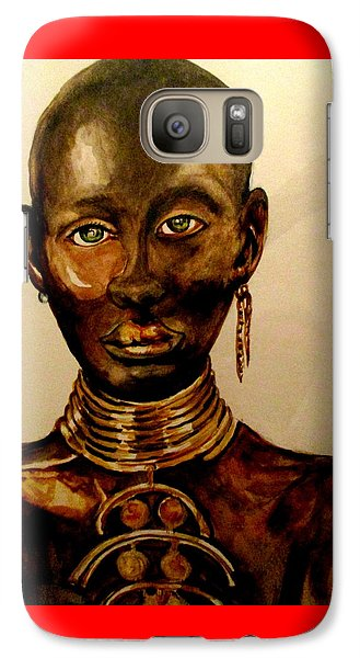 Galaxy Case featuring the painting The Golden Black by Yolanda Rodriguez
