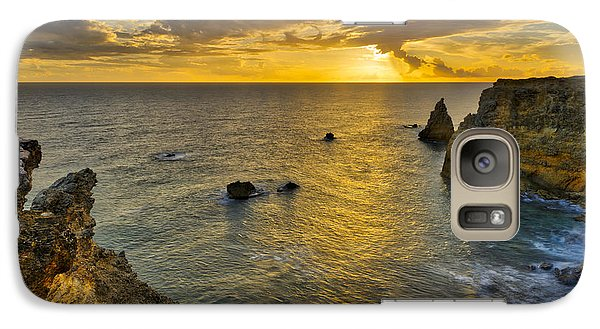 Galaxy Case featuring the photograph The Golden Hour - Cabo Rojo - Puerto Rico by Photography By Sai