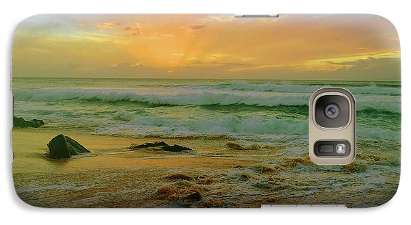 Galaxy Case featuring the photograph The Golden Moments On Molokai by Tara Turner