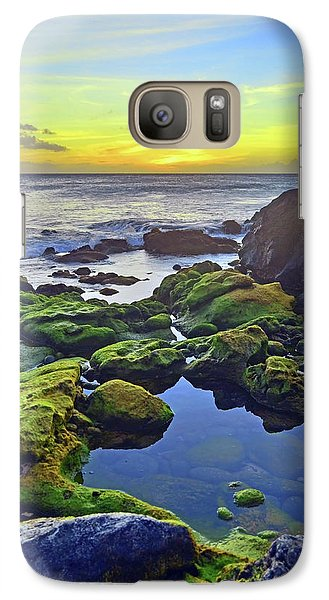 Galaxy Case featuring the photograph The Golden Skies Of Molokai by Tara Turner