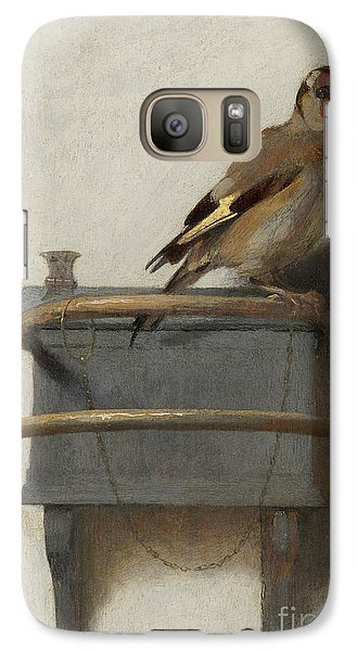 The Goldfinch, 1654  Galaxy Case by Carel Fabritius