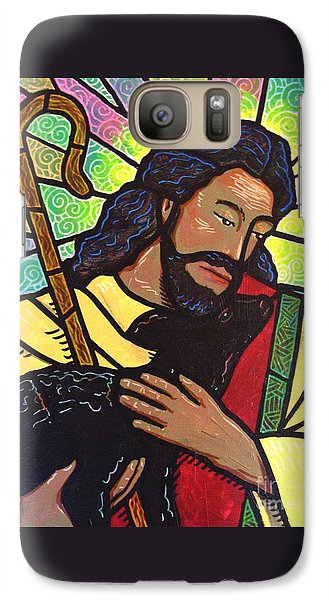 Galaxy Case featuring the painting The Good Shepherd - Practice Painting Two by Jim Harris