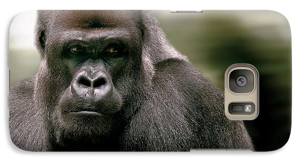 Galaxy Case featuring the photograph The Gorilla by Christine Sponchia