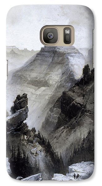 Galaxy Case featuring the drawing The Grand Canyon Drawing            by Thomas Moran