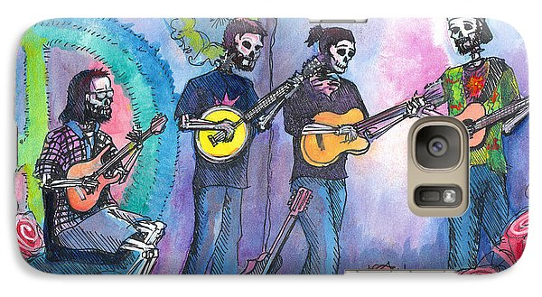 Galaxy Case featuring the painting The Grass Is Dead by David Sockrider