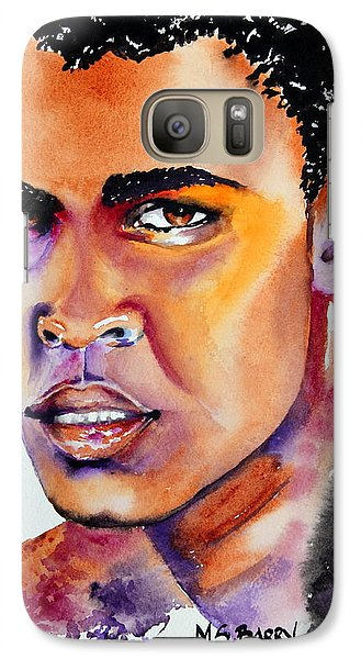 Galaxy Case featuring the painting The Great Ali by Maria Barry