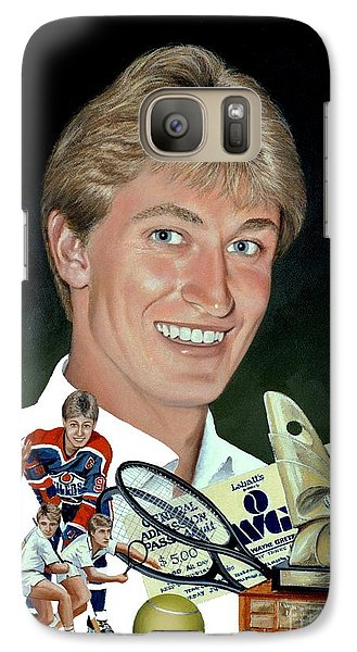 Galaxy Case featuring the painting The Great One - Oiler Days by Michael Swanson