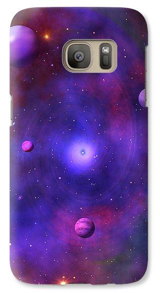Galaxy Case featuring the digital art The Great Unknown by Bernd Hau