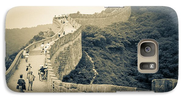 Galaxy Case featuring the photograph The Great Wall Of China by Heiko Koehrer-Wagner