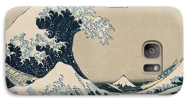 Transportation Galaxy S7 Case - The Great Wave Of Kanagawa by Hokusai