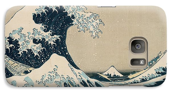 The Great Wave Of Kanagawa Galaxy S7 Case by Hokusai