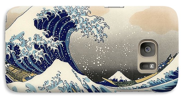 Galaxy Case featuring the photograph The Great Wave Off Kanagawa by Katsushika Hokusai