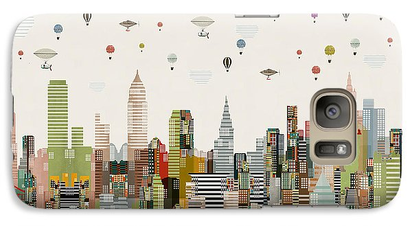 Galaxy Case featuring the painting The Great Wondrous Balloon Race by Bri B
