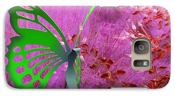 Galaxy Case featuring the photograph The Green Butterfly by Rosalie Scanlon