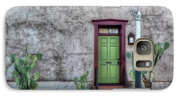 Galaxy Case featuring the photograph The Green Door by Lynn Geoffroy