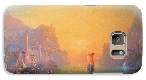 The Grey Havens. The Gulls Lament.  Oil On Canvas Galaxy S7 Case by Joe  Gilronan